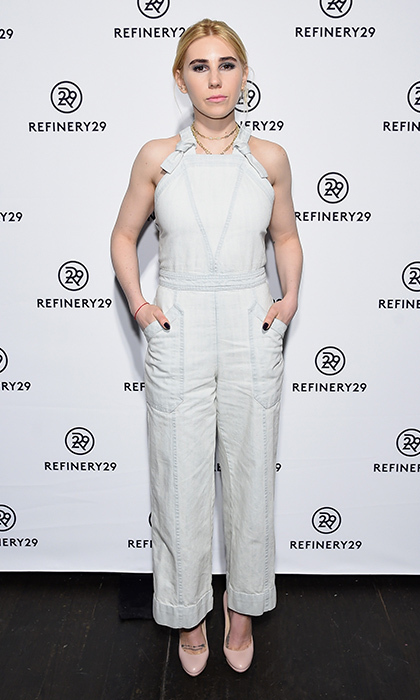 <I>Girls</I> actress Zosia Mamet had a chic take on the overalls trend at the Refinery29 Newfronts presentation in New York City. 
