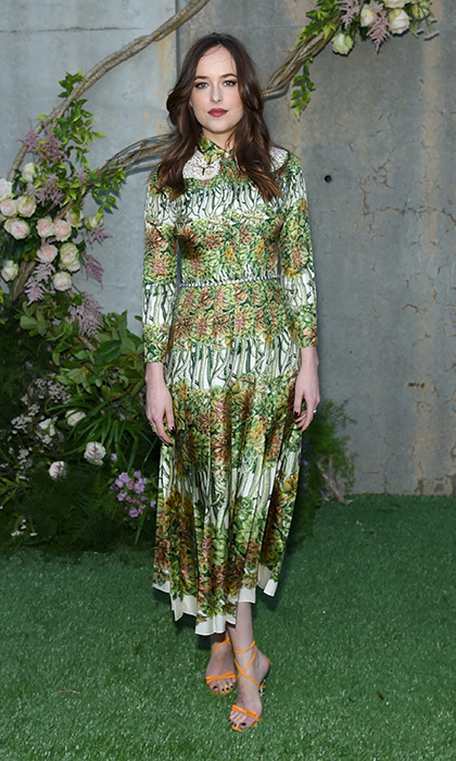 Dakota Johnson wore – what else? – Gucci for the Gucci Bloom fragrance launch at MoMA PS.1 in New York City. 