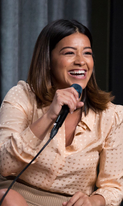 May 1: Gina Rodriguez was all smiles during the <i>Jane the Virgin</i> conversation at the SAG-AFTRA Foundation Screening Room in L.A. 
