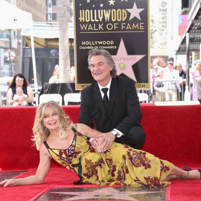 May 4: Goldie Hawn and her longtime partner Kurt Russell were honored together with stars on the Hollywood Walk of Fame in a ceremony attended by daughter Kate Hudson and friend Reese Witherspoon.