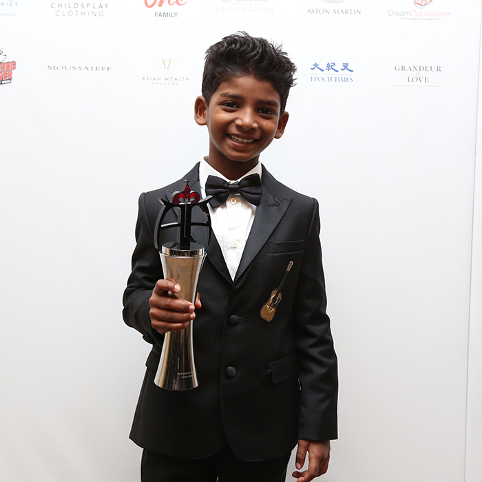 May 5: And the award for cutest red carpet appearance goes to... Sunny Pawar! Bollywood heartthrob Varun Dhawan presented the eight-year-old <I>Lion</I> actor, who wore a custom Dolce & Gabbana tux, with the inaugural Rising Star of the Year trophy at the 7th Annual Asian Awards in London. 