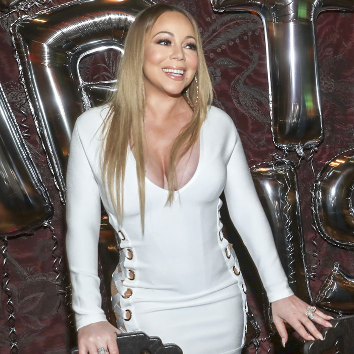 May 4: Mariah Carey was given all of the love at her surprise birthday dinner at TAO Los Angeles. The <i>Honey</i> singer and her closest friends enjoyed dinner in the skybox for her 'anniversary' as she calls her birthday. Upon leaving, she was given a new black Maybach that was waiting outside.