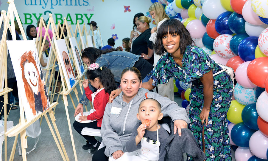 May 6: Kelly Rowland spent her Saturday celebrating moms during the Baby2Baby and Tiny Prints Mother's Day Party in L.A.