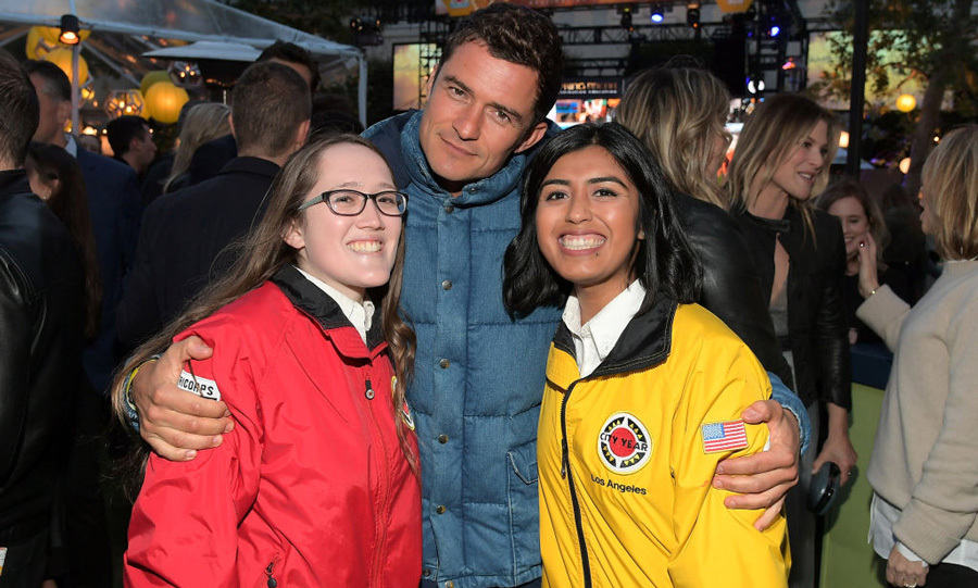 May 6: Who needs a beach when you have Orlando Bloom? The actor met with City Year AmeriCorps members at City Year Los Angeles Spring Break which benefits education in L.A.