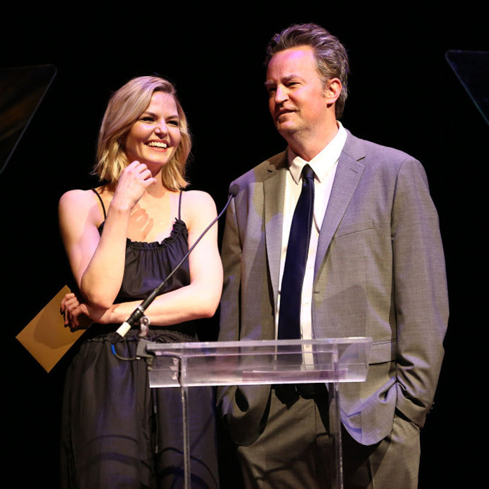 May 7: Jennifer Morrison, who announced she is leaving <i>Once Upon a Time</i> at the end of the season was all smiles with her <i>The End of Lounding</i> co-star Matthew Perry presented during the Lucille Lortel Awards in NYC.