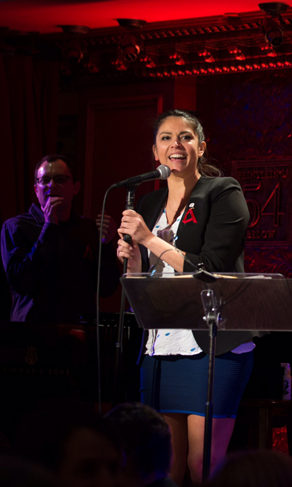 May 7: Cecily Strong took to the stage during the Broadway Acts for Women 3 'A is For' party co-hosted by the <i>Saturday Night Live</i> star and Martha Plimpton at 54 Below in NYC.