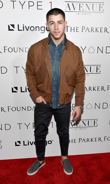 Nick Jonas gave a touching speech about his personal experience with Type 1 diabetes at the Beyond Type 1 cocktail party with Kim Crawford Wines at Avenue LA.