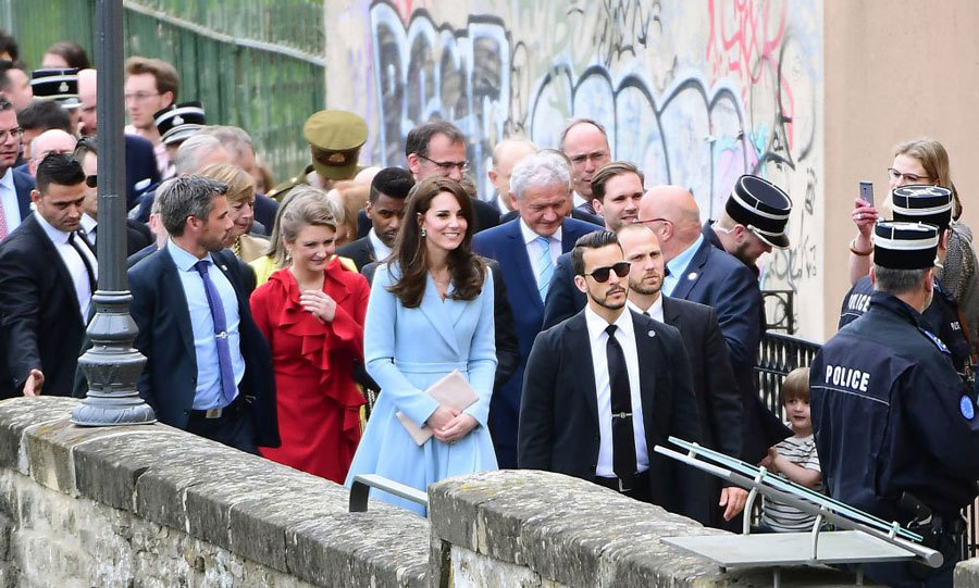 "Kate Middleton will be back! After visiting Luxembourg's City Museum, she spent 20 minutes taking in the sights and walked the Corniche, a pedestrian promenade. Along the way, she met a group of British and Japanese tourists and shared she loved her trip. The 35-year-old noted, ""I'd love to come back with my husband.""