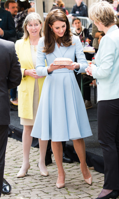 "She'll save that for later! Kate was given a cake as she toured the cycling festival. One Lycra-clad cyclicst Tom Wirtsen also noted of meeting the royal, ""I think I was more nervous than during a cycling race.""