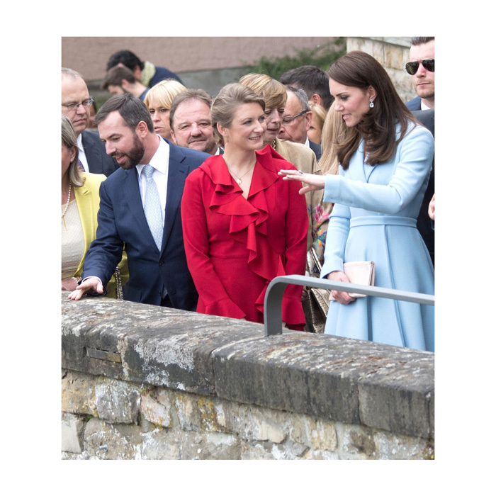 The Duchess and Princess Stephanie took in the views after leaving the City Museum. During her one-day trip, Kate was able to celebrate the 150th anniversary of the Treaty of London which solidified the country as an independent state.