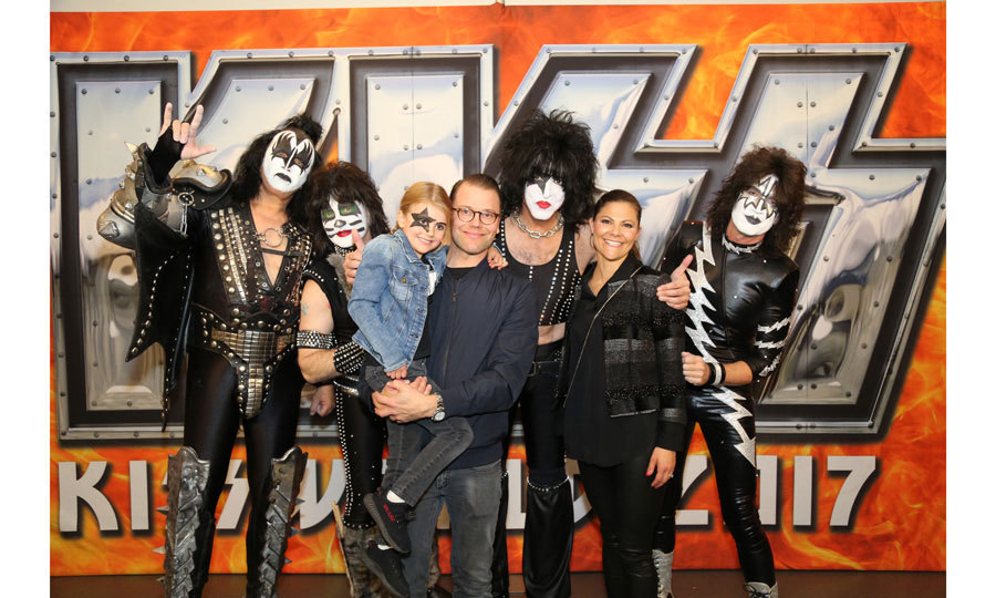 "May 2017: It was a rockin' night for the five-year-old when her parents took her to see KISS in Stockholm on May 6. Estelle even had Paul Stanley's iconic star painted on her face for the concert. After, the Swedish royals met the band and Paul told HELLO!, ""It was an honor to meet the Crown Princess and her wonderful family. Knowing that their daughter Estelle's favorite song is <i>Detroit Rock City</i> assures me that they too 'Rock & Roll All Nite and Party Everyday!'""