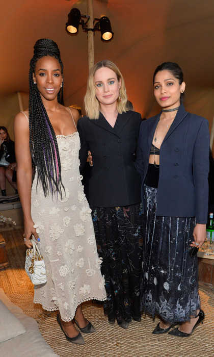 Kelly Rowland, Brie Larson and Freida Pinto showed off their Dior best at the label's Cruise 2018 Show in Calabasas. 