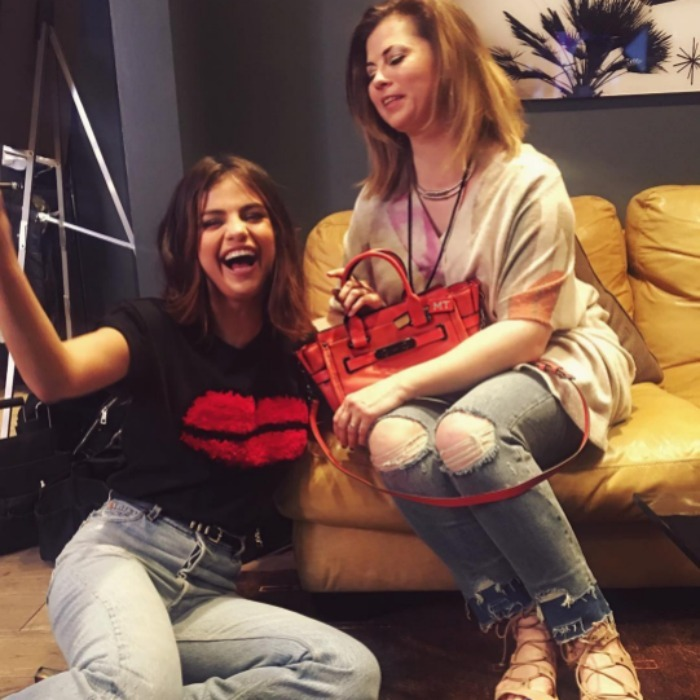 <b>Selena Gomez and Mandy Teffey</b>