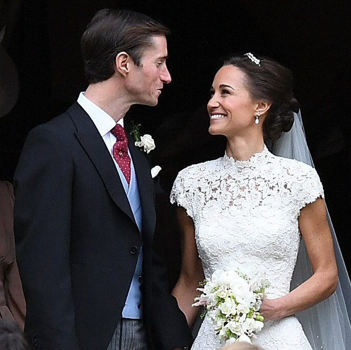 The couple looked relaxed and ready to celebrate their union with family and friends. 