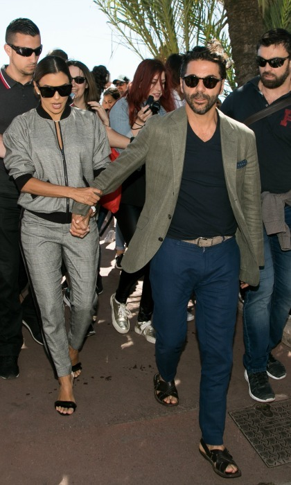 Eva Longoria and Jose Baston were hand-in-hand during a walk around the city.