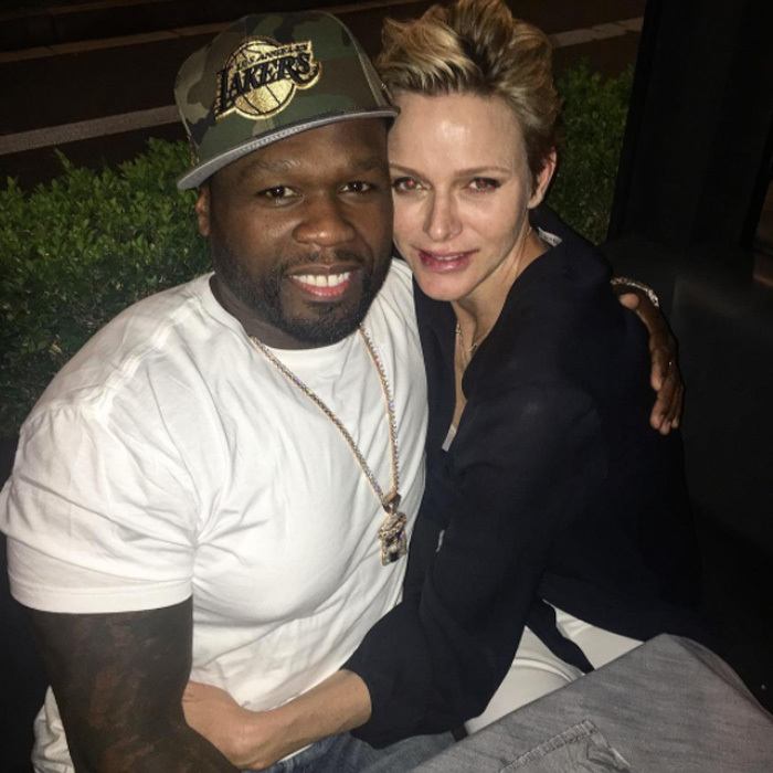 Princess Charlene and 50 Cent partied in 'da palace! The rapper was the special performer at the end-of-season party to celebrate Monaco as League 1 champions for the first time since the 1999-2000 season. 