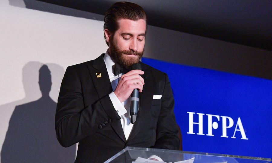Jake Gyllenhaal accepted the donation of $500,000 on behalf of the IRC, which will go toward programs supporting refugees in greatest need during the party at Nikki Beach.