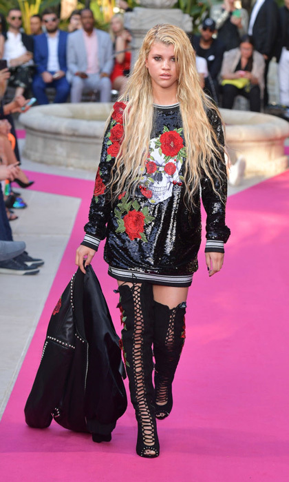 Sofia Richie took to the runway during Philipp Plein's Cruise Show in Cannes.