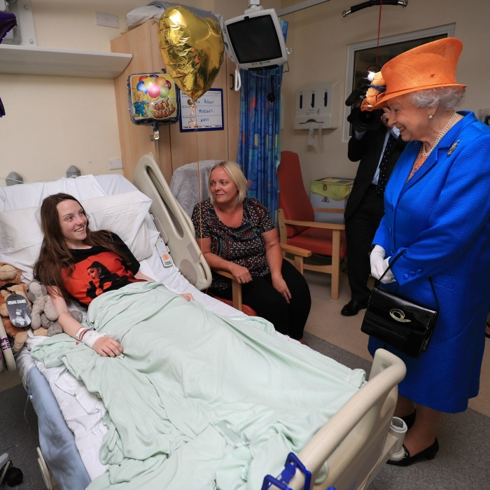 Her Majesty met with Millie Robinson one of the victims of the Manchester terror attack, during her surprise visit to the Royal Manchester Children's hospital. The Queen asked the teen, who had won VIP passes to meet Ariana Grande, if she had a good time prior to the explosion and wished her a speedy recovery.