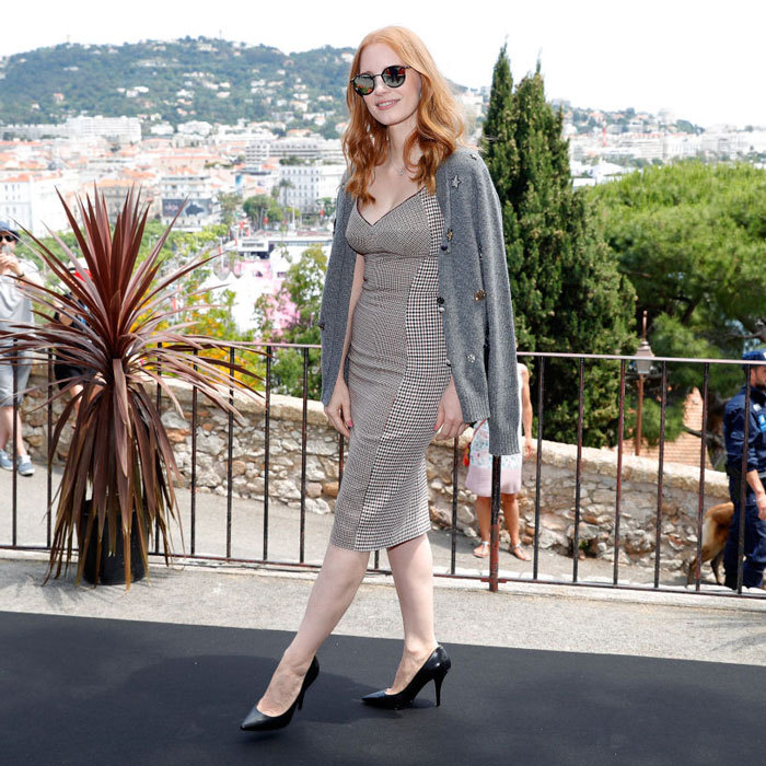 Jury member Jessica Chastain arrived to the Mayor's Aioli at the Palais des Festivals.