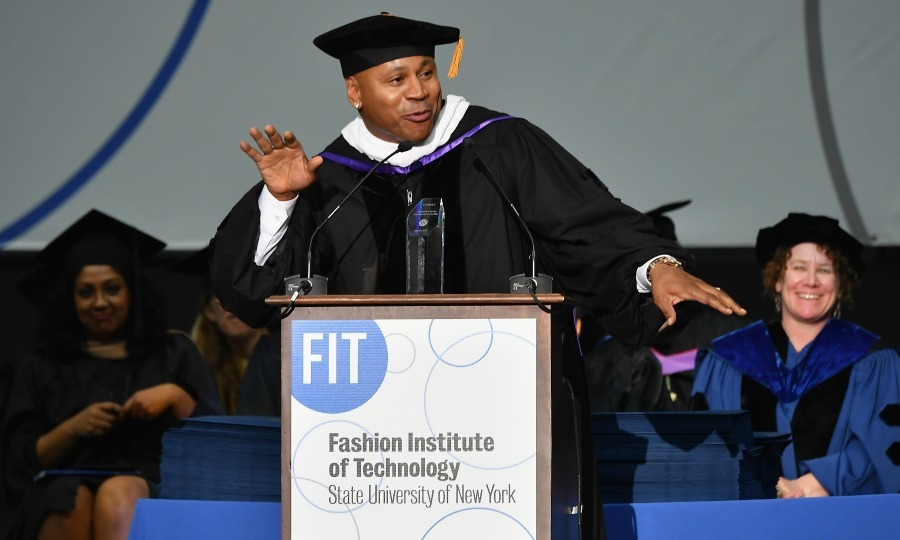 May 25: LL Cool J kept it cool as he accepted his President's Award for Creative Excellence and gave the commencement speech at New York's Fashion Institute of Technology. 
