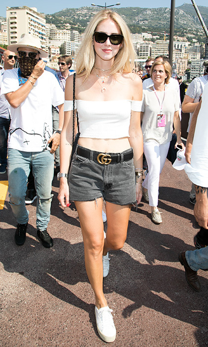 May 28: Designer and fashion blogger Chiara Ferragni showed off her cool style at the Grand Prix on the F1 Monaco street circuit.
