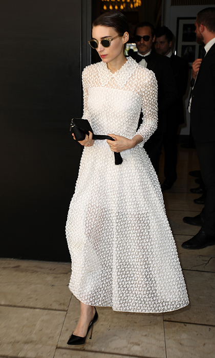 Rooney Mara – girlfriend of Cannes' winning leading man Joaquin Phoenix – wore a beautiful Christian Dior dress for final evening of the festival. 