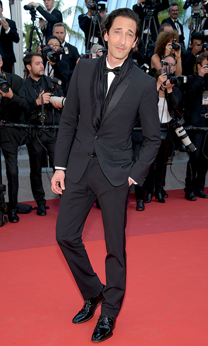 Adrien Brody stepped out in style in black tie for the <I>Based on a True Story </I> premiere. 