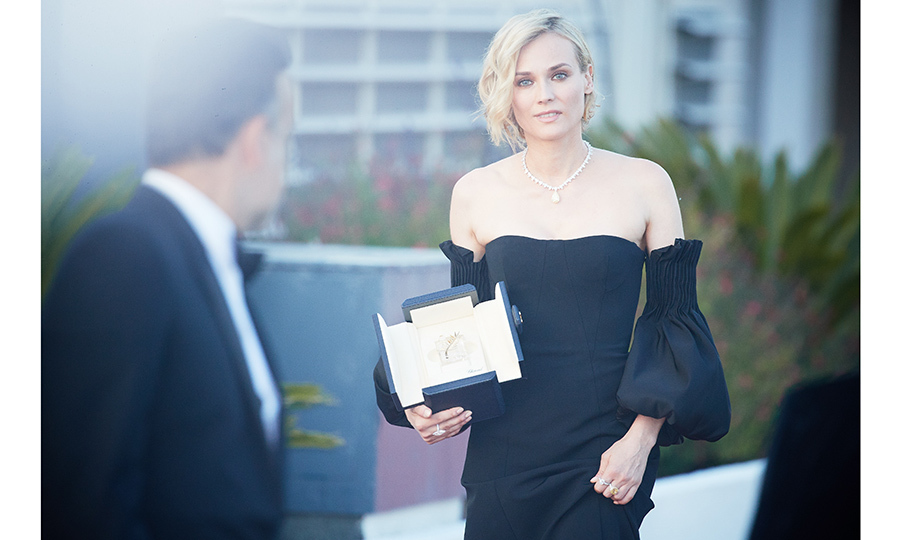 Diane Kruger, who won the award for best actress for her part in the movie <I>In The Fade (Aus Dem Nichts)</I> was center stage at the Palme D'Or Winners' photo call after the gala. 