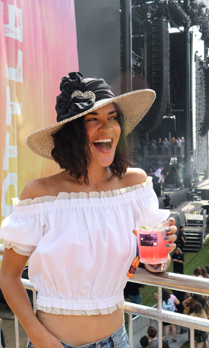 May 26: Jessica Szohr kicked off her Memorial Day weekend watching Josh Kelley, Maroon 5, Tom Petty & The Heartbreakers and more perform at BottleRock Napa Valley festival from the SPG Amex VIP Viewing Suite.  