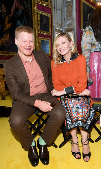 May 29: Kirsten Dunst brought her fiancé Jesse Plemons to the Gucci Cruise 2018 at Palazzo Pitti in Florence, Italy.