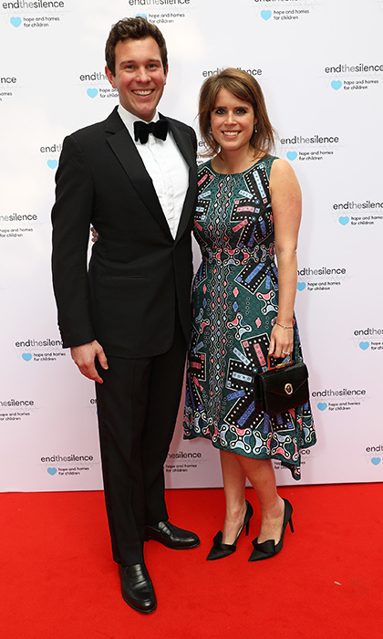 Princess Eugenie donned a Peter Pilotto print to step out with boyfriend Jack Brooksbank at the 50th anniversary of The Beatles SGT Pepper Album at Abbey Road Studios. The event was a fundraiser for End The Silence and Hope & Homes for Children, on May 31 in London.
