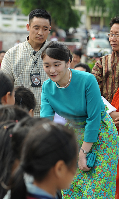 Emperor Akihito of Japan's granddaughter Princess Mako met Bhutanese shcoolchildren at the opening ceremony for 'Japan Week' at the Clock Tower in Thimpu on June 2. 
