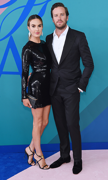 Making it a date night were Elizabeth Chambers, who wore a sparkling black minidress, and husband Armie Hammer.