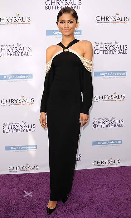 June 3: Zendaya looked chic in a vintage-inspired look at the 16th annual Chrysalis Butterfly Ball in Brentwood, California.