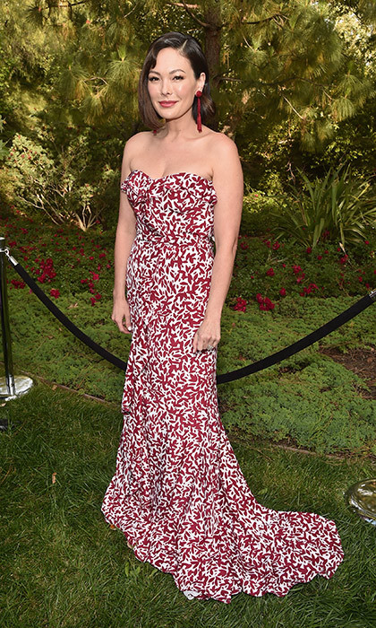 June 3: Actress Lindsay Price was chic in a strapless sweetheart gown at the the 16th Annual Chrysalis Butterfly Ball. 
