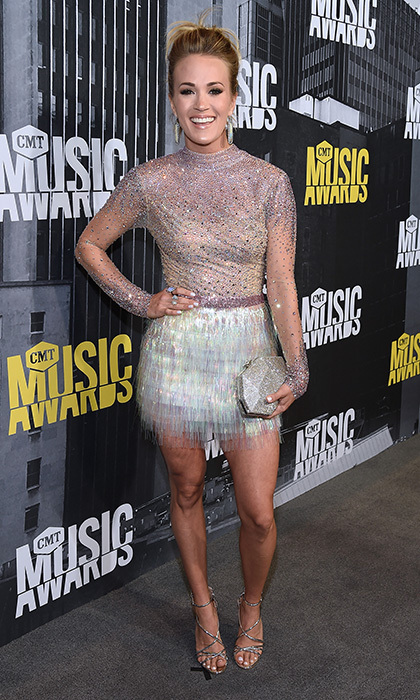 June 7: Carrie Underwood had some serious shimmer at the  2017 CMT Music Awards at the Music City Center in Nashville, Tennessee. 