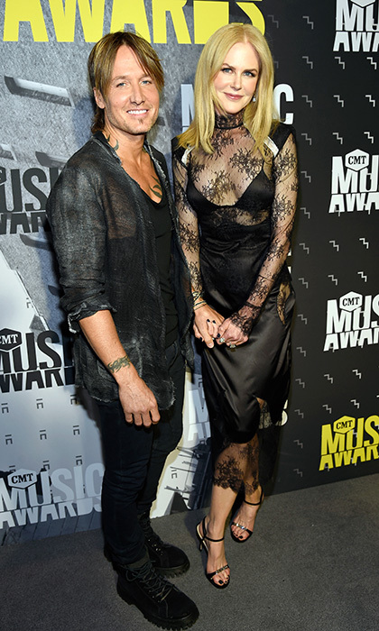 June 7: Keith Urban and Nicole Kidman both kept it classic in black at the 2017 CMT Music Awards.