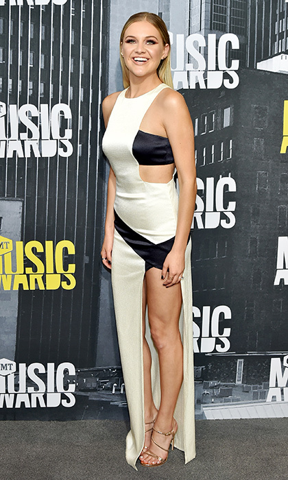 June 7: Kelsea Ballerini chose this daring dress for the 2017 CMT Music Awards in Nashville.