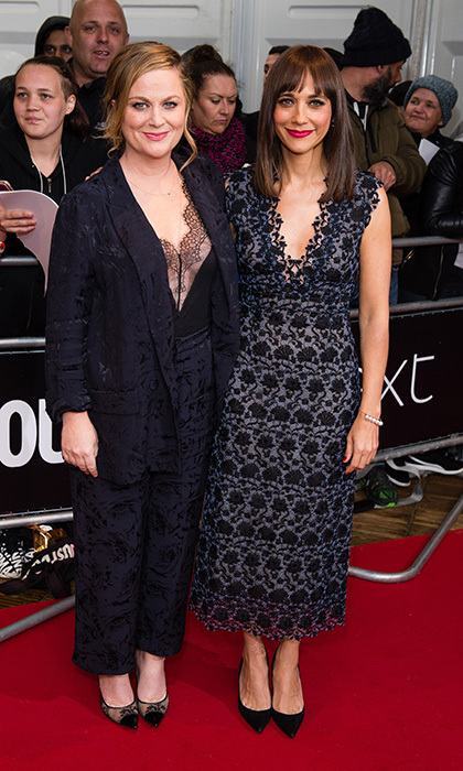 June 6: Amy Poehler and Rashida Jones teamed up on the red carpet at the Glamour Women of The Year awards 2017 at Berkeley Square Gardens in London, England.