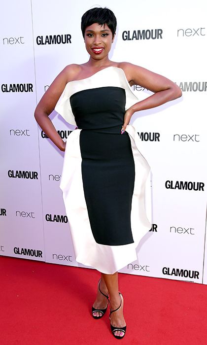 June 6: Jennifer Hudson looked chic in this architectural style on the Glamour Women of the Year Awards 2017 red carpet.