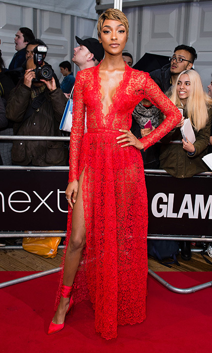 June 6: Jourdan Dunn was the night's lady in red at the Glamour Women of the Year Awards 2017 in London.