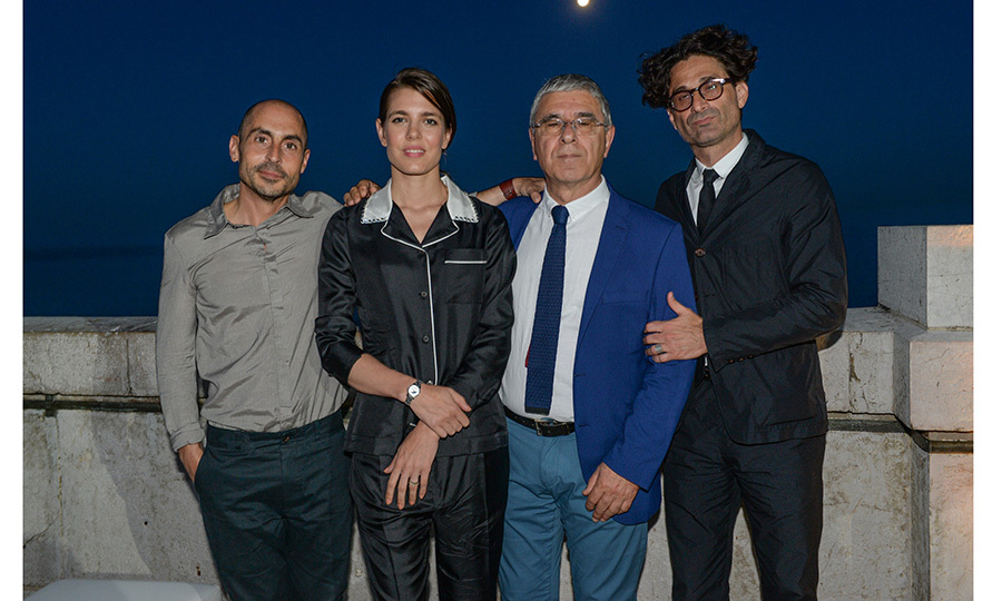 Charlotte Casiraghi had a night out for 'Les Rencontres Philosophiques' at Monaco's Musee Oceanographique with Montblanc and Joseph Cohen, Robert Maggiori and Raphael Zagury Orly.
