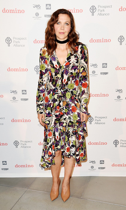 June 1: Maggie Gyllenhaal was the host with the most at the  Domino Summer Pop-up Shop at City Point in Brooklyn to benefit the Prospect Park Alliance.