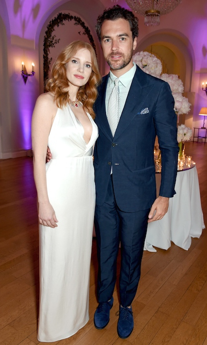 <b>Jessica Chastain and Gian Luca Passi de Preposulo</B>