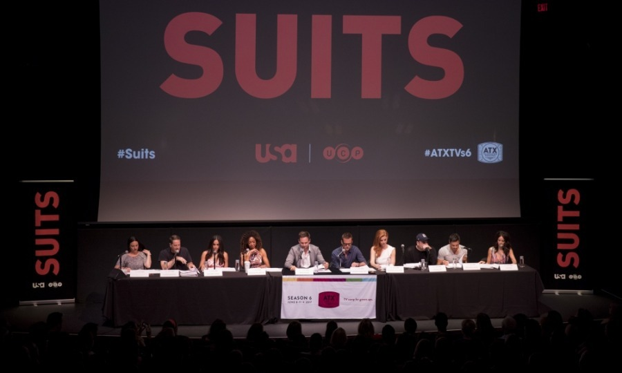 The <i>Suits</i> cast left their business attire at Pearson Spector Litt as they attended the ATX Festival panel in Austin, Texas. Dressed casually, the crew, which included Meghan Markle, took the stage at the Paramount Theatre for a 90 minute table read and moderated Q&A. 