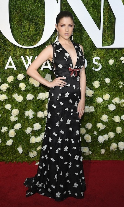 June 11: Anna Kendrick looked fun and flirty in floral Miu Miu at the 2017 Tony Awards in New York.