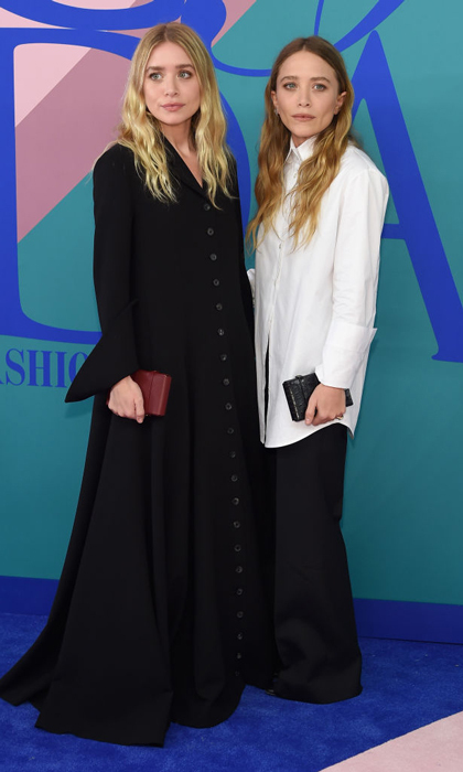 Opposites attract! The sisters wore The Row to the 2017 CFDA awards in June in NYC.