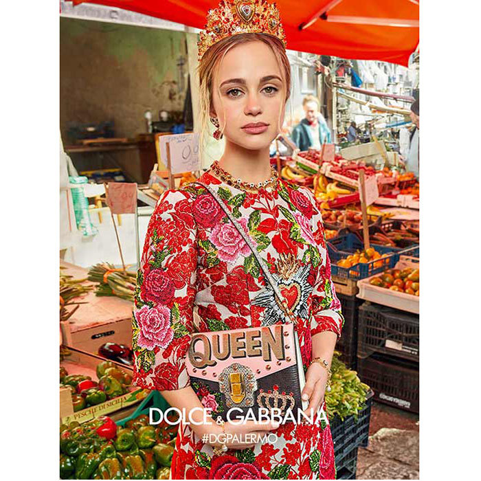 In June 2017, Lady Amelia Windsor looked stunning in her latest starring role as a 'face' of Dolce & Gabbana. The granddaughter of the Duke of Kent posed in a food market in Italy for the designer's Fall 2017 campaign, and looked stunning in a red floral dress complete with an opulent crown and a handbag with 'QUEEN' emblazoned on the front. Amelia, who is currently 36-in-line to the British throne, is signed to the model agency Storm, which has clients including Kate Moss and Cara Delevingne.