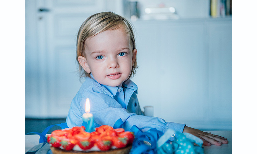 Those piercing blue eyes were on full display as Nicolas celebrated his second birthday on June 15, 2017. In several photos released by the palace and Princess Madeleine, he posed in a matching blue shirt in front of a cake and a number two candle. 